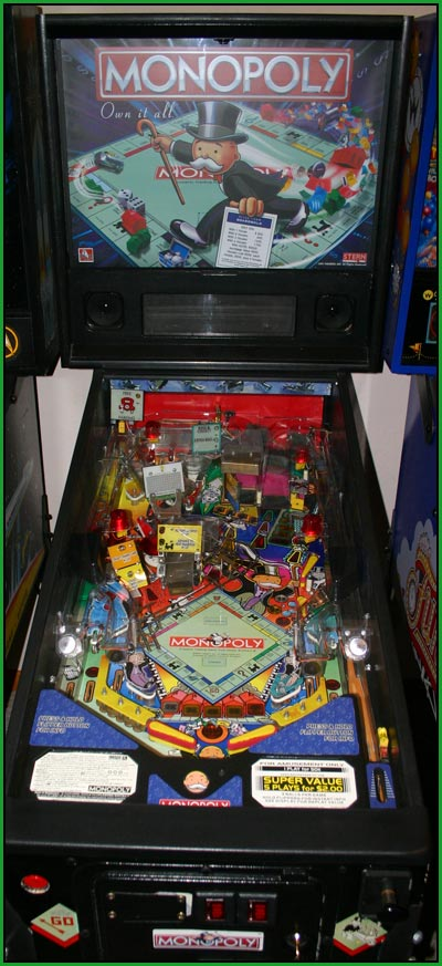 A picture of my Monopoly pinball machine