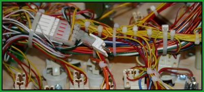 clean pinball wiring harness
