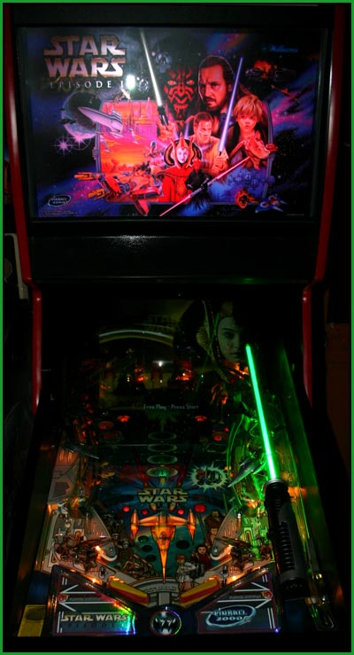 A picture of my star wars episode one pinball machine