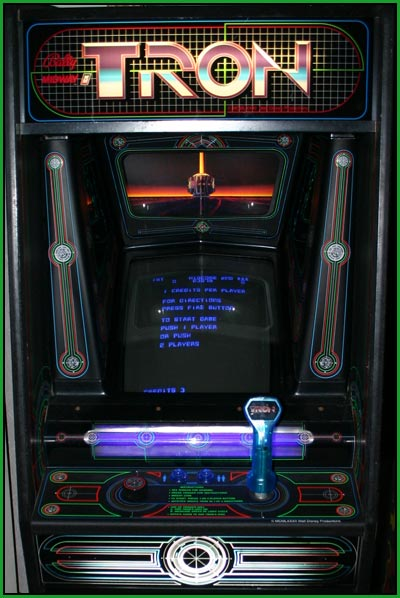 A picture of my tron arcade game
